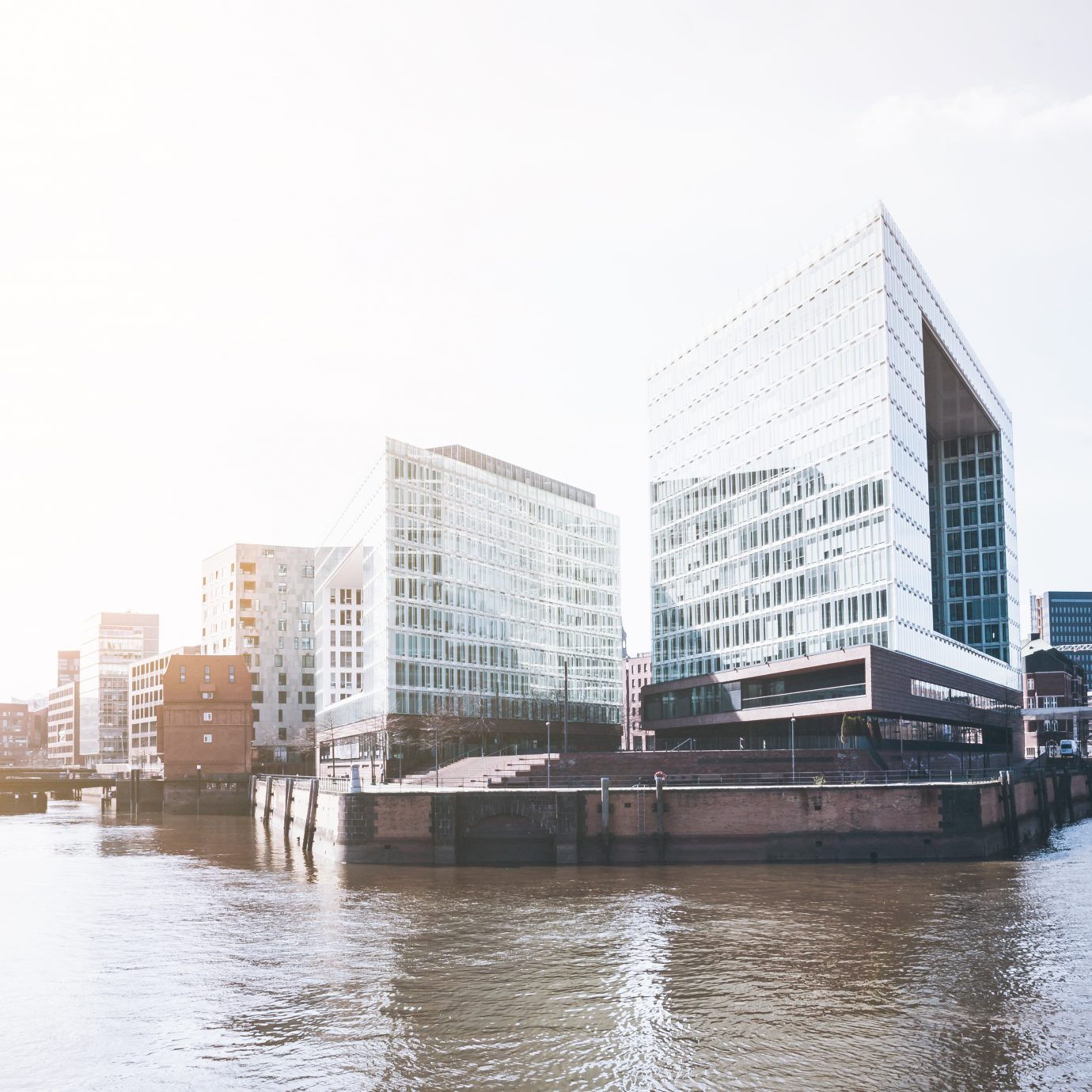 modern office buildings at Hafencity district in Hamburg