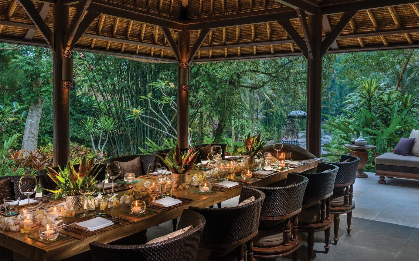 Dinner table at Four Seasons Resort Bali at Sayan