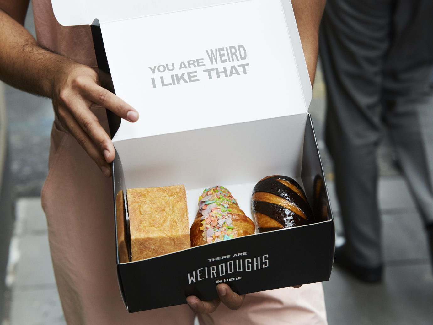 box of doughnuts at Weirdoughs, Melbourne, AUS