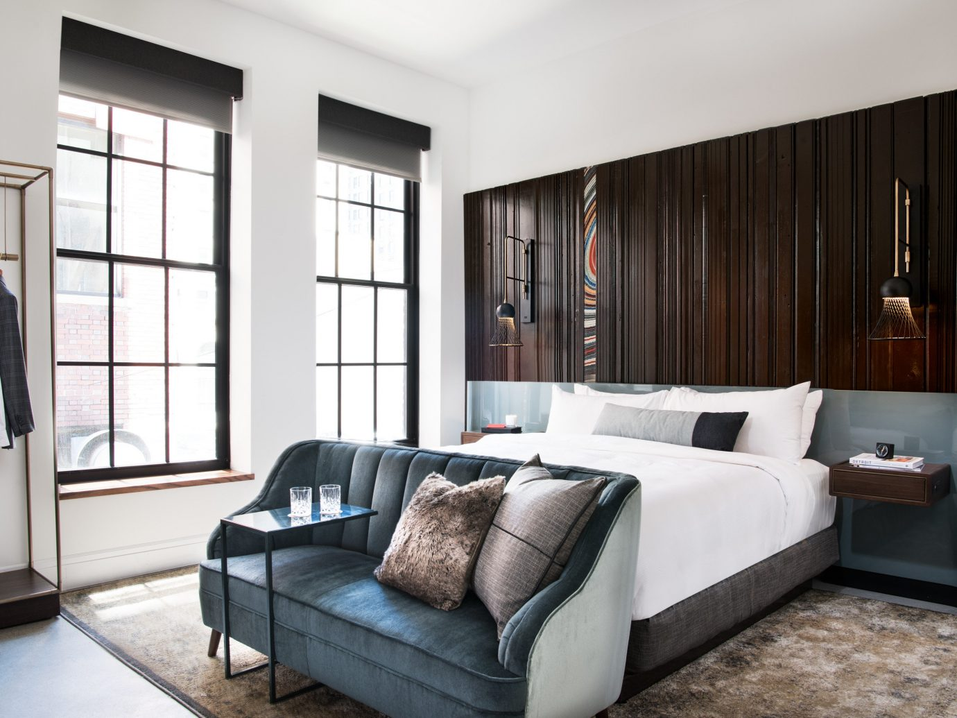 Bedroom at Detroit Foundation Hotel