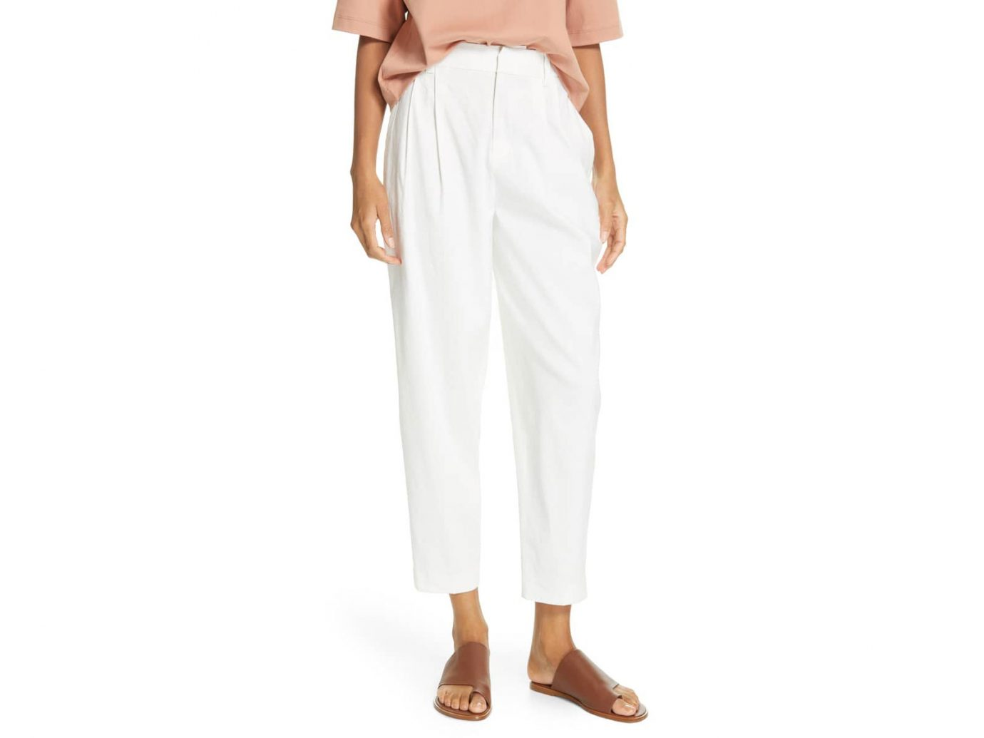 Vince Tapered Cropped Pants white
