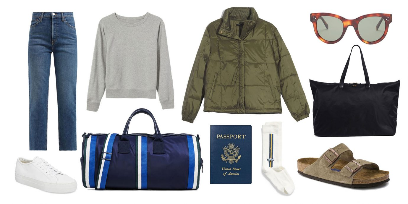 what to wear to the airport collage