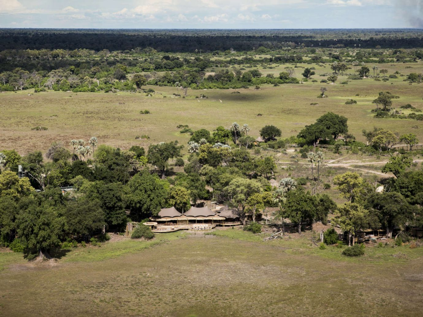 Aerial view of Mombo Camp