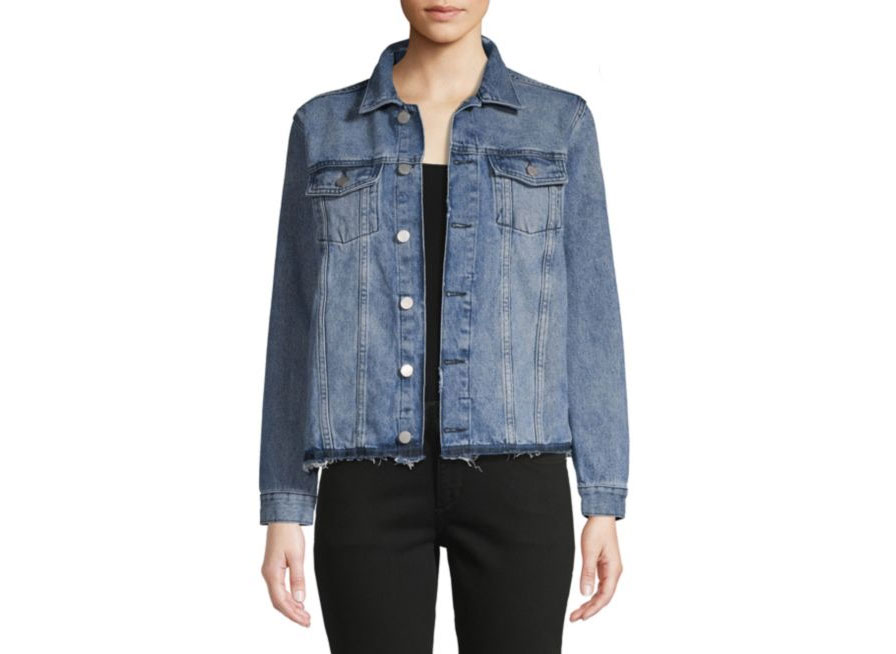DL1961 Premium Denim Distressed Denim Jacket