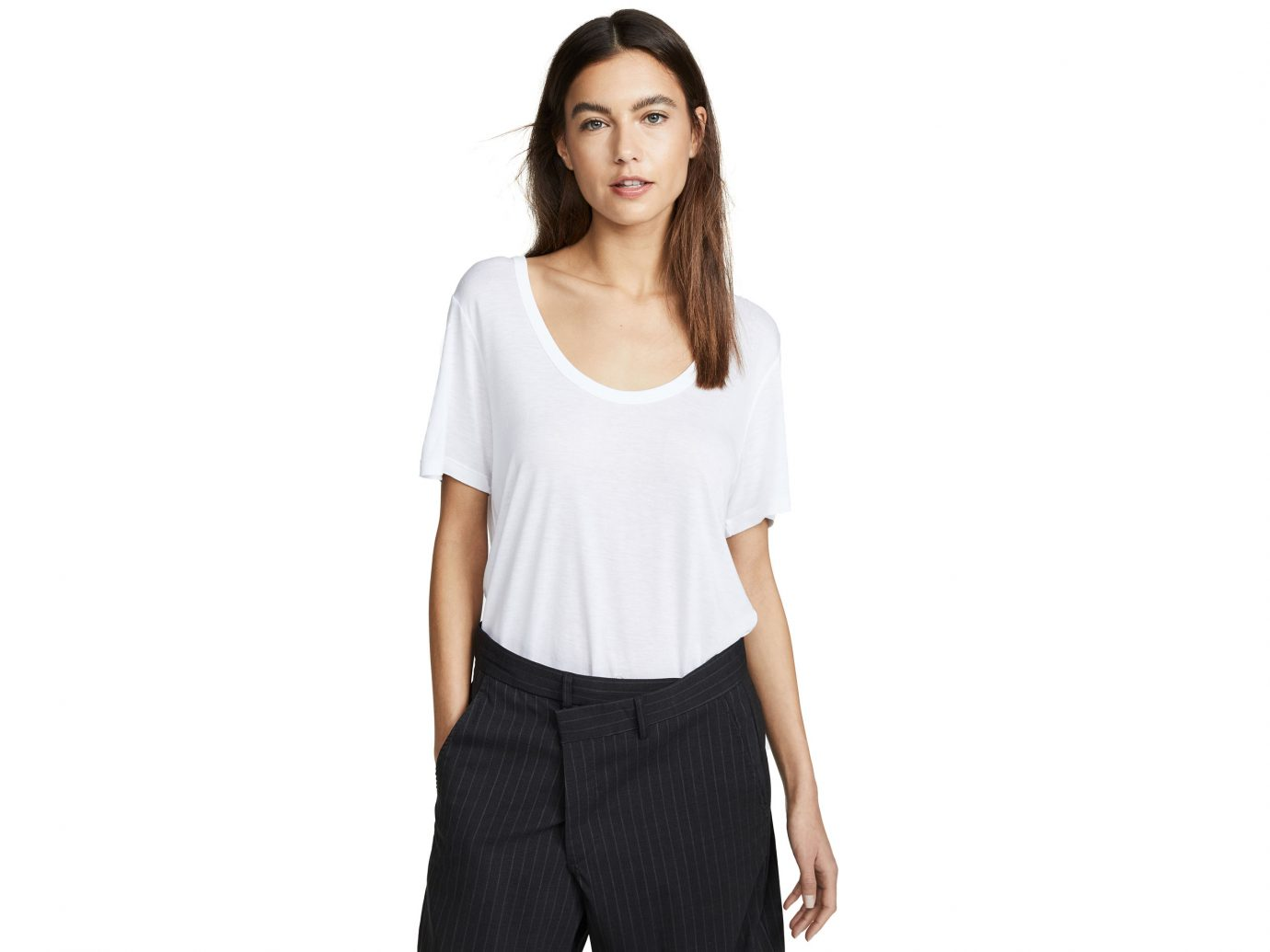 alexanderwang.t Drapey Jersey Tee With Darting Detail