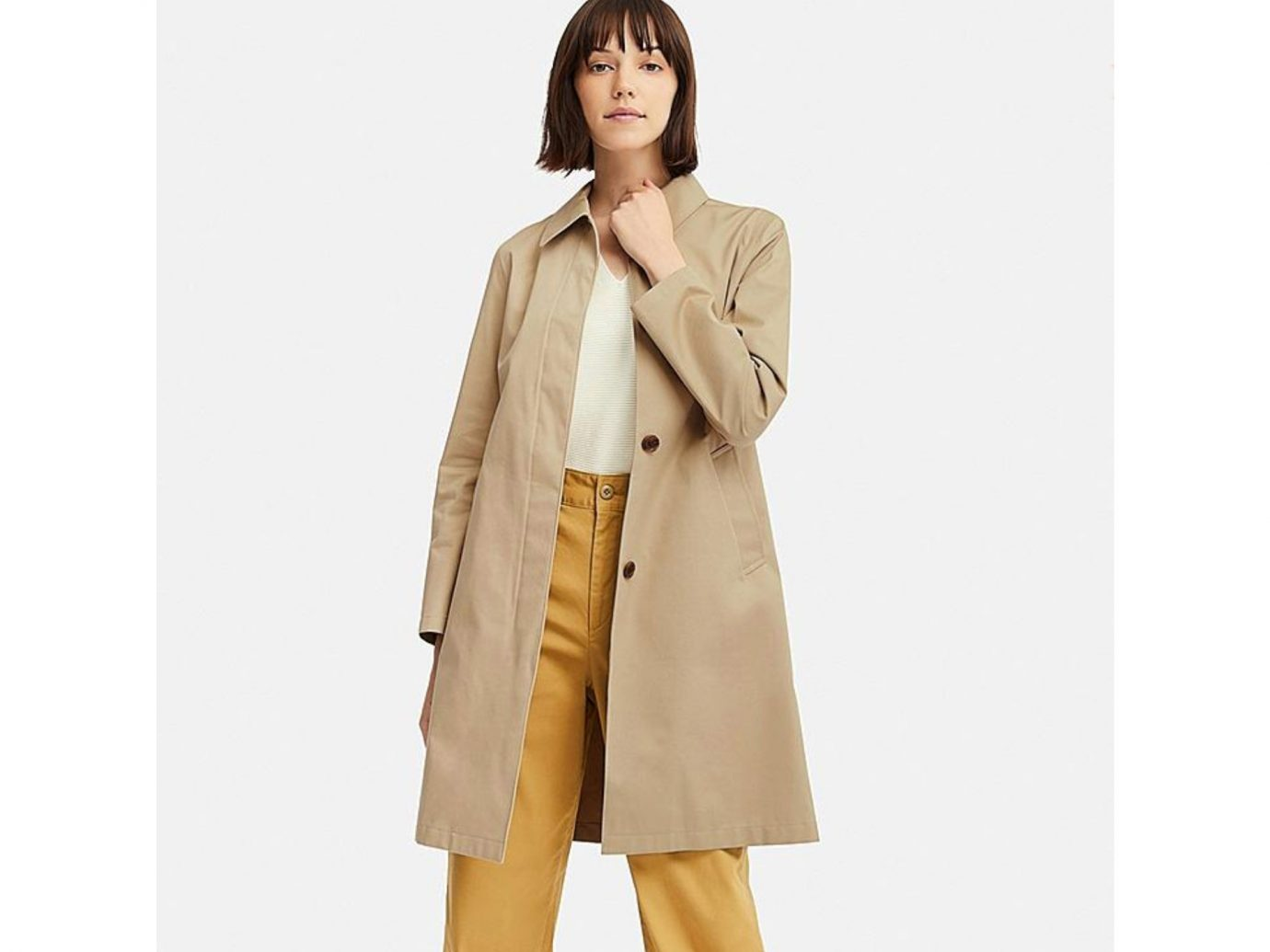 Uniqlo Women's Blocktech Soutien Collar Coat