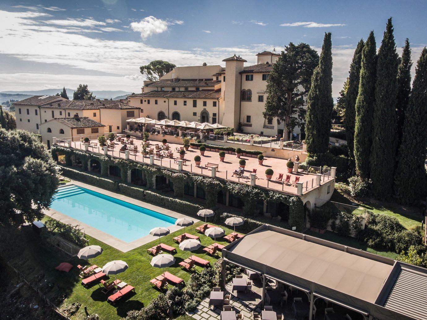 Pool view at Castello Del Nero