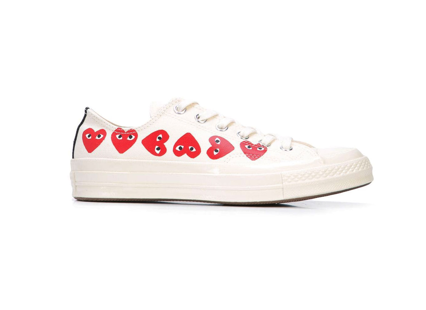 COMME DES GARÇONS PLAY x Converse Chuck Taylor Multi Heart 1970s Ox Sneakerss