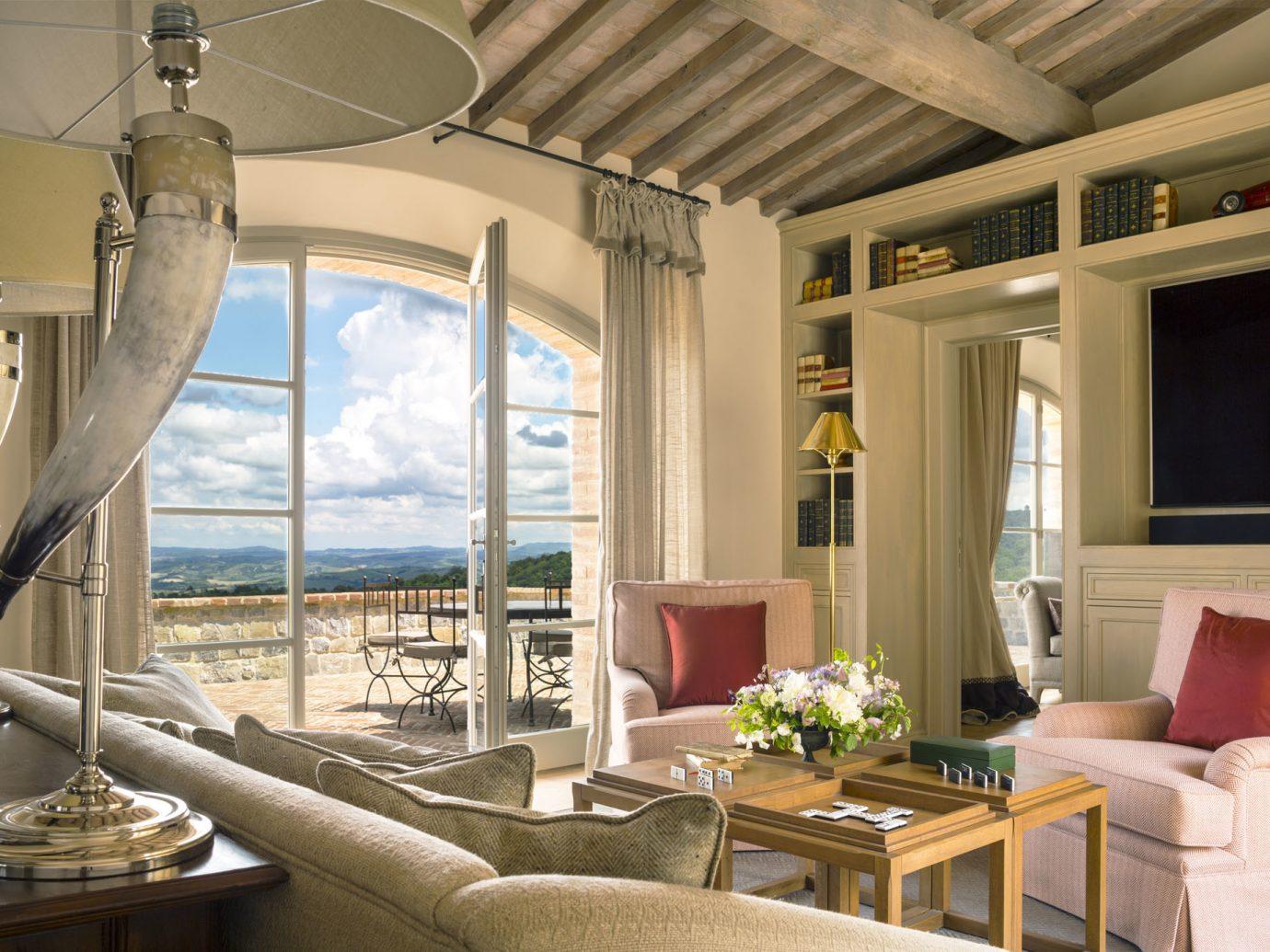 Living room at Rosewood Castiglion de Bosco