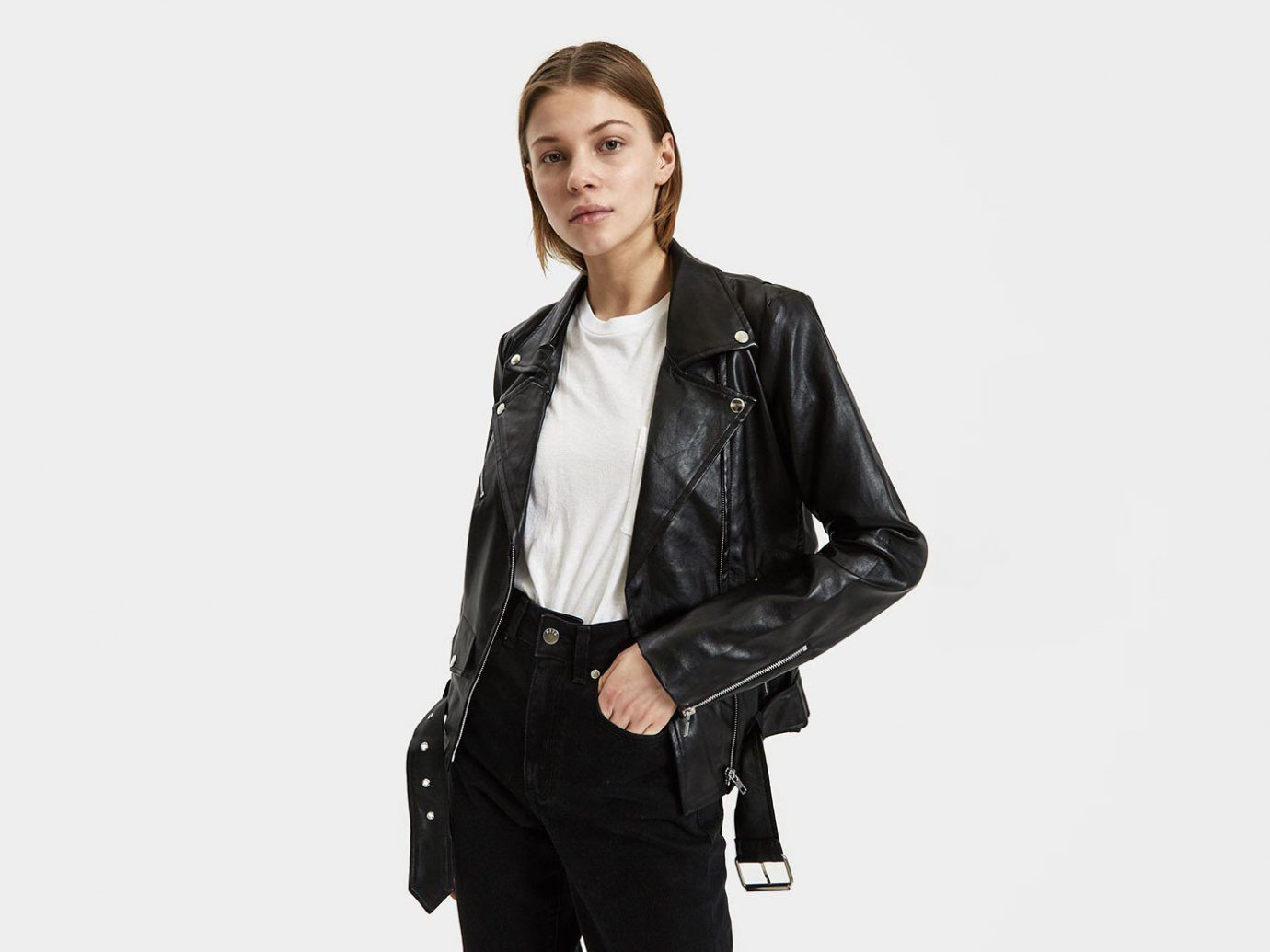 Stelen Kya Vegan Leather Moto Jacke