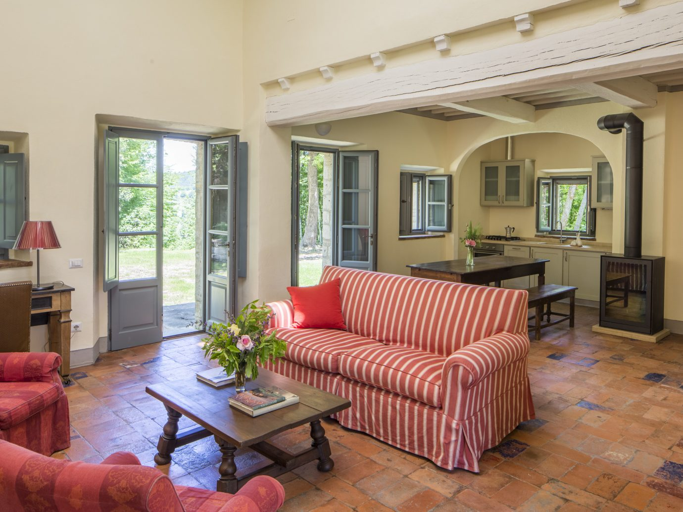 Living room at Borgo Pignano