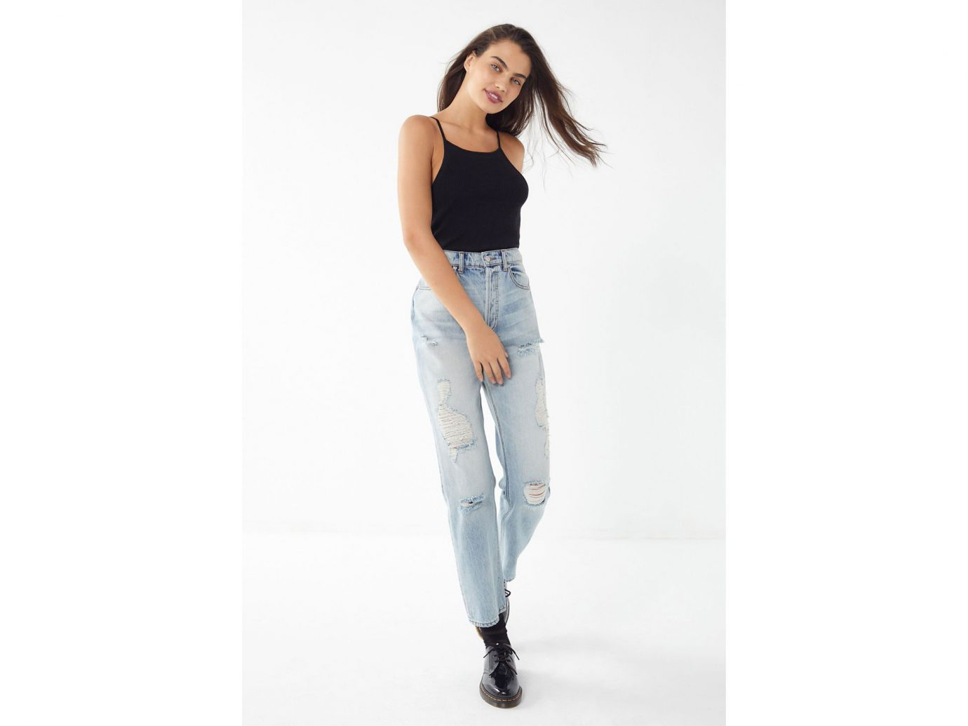 BDG High-Rise Destroyed Relaxed Straight Jean