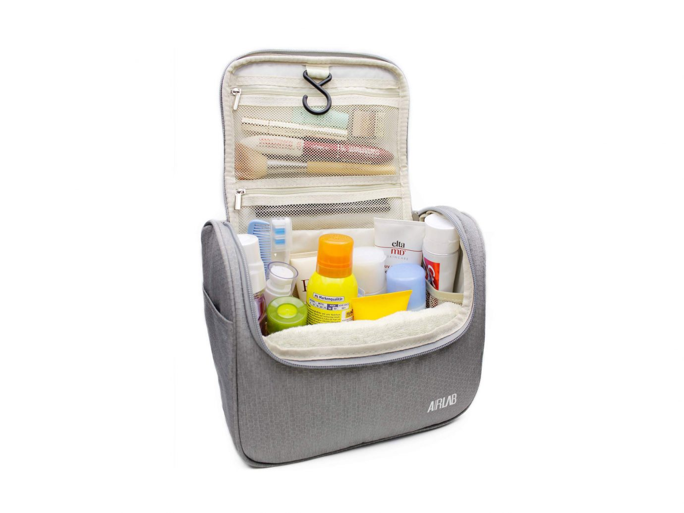 For checked bag: Hanging Toiletry Bag