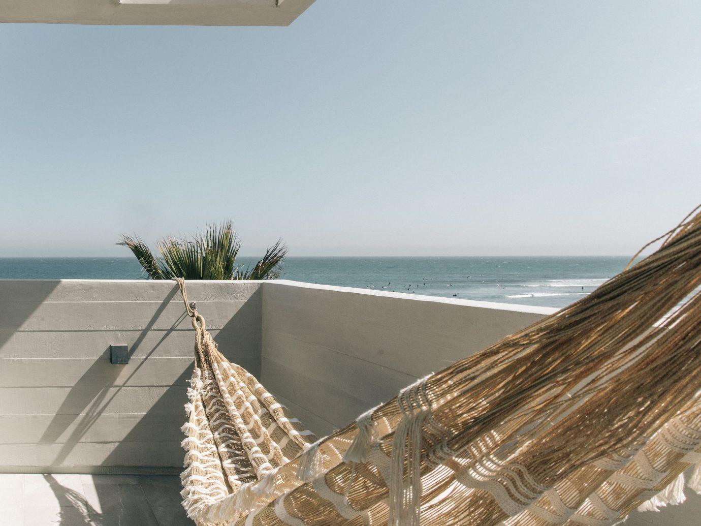 hammock in exterior deck space