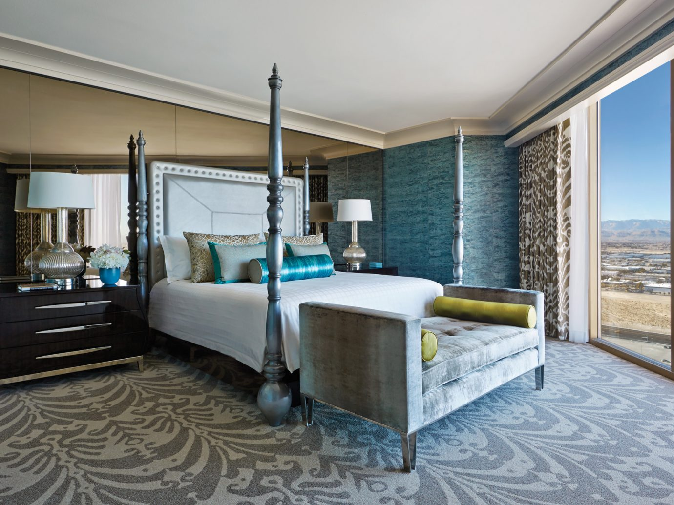 Bedroom in the Presidential suite at the Four Seasons Las Vegas