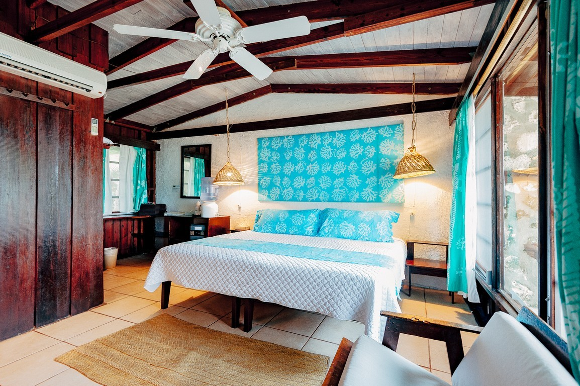 Bedroom at Small Hope Bay Lodge