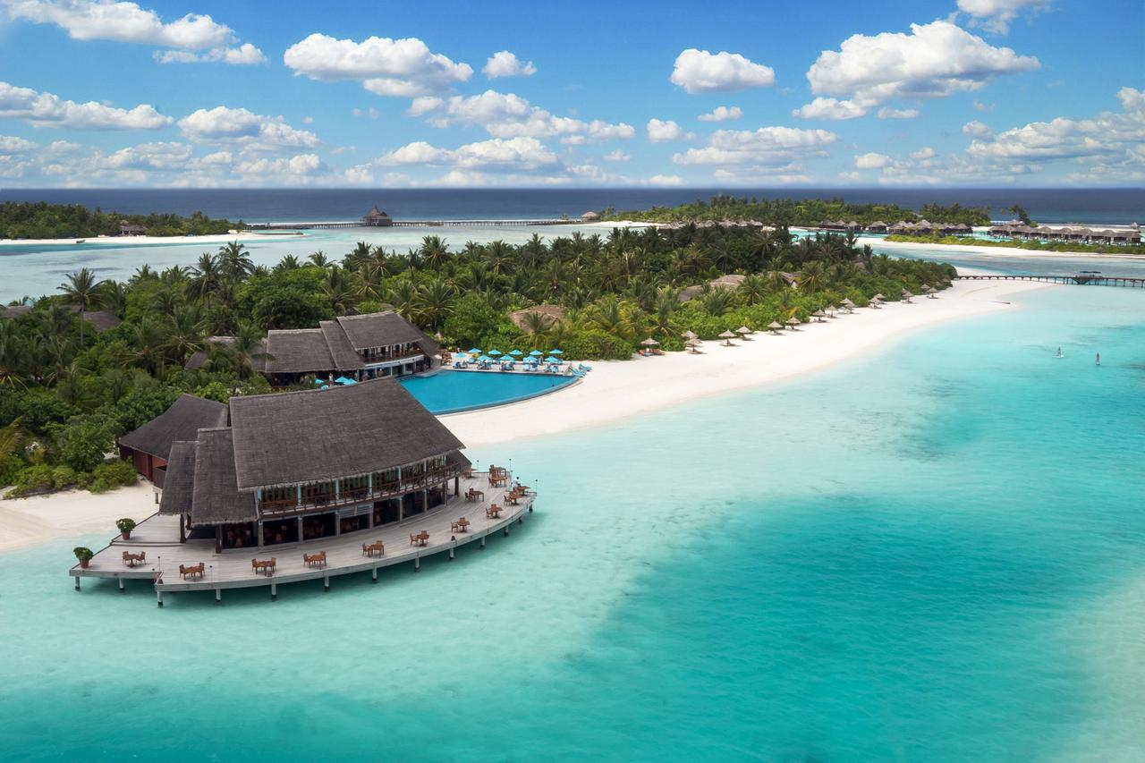 Aerial view of Anantara Dhigu Maldives