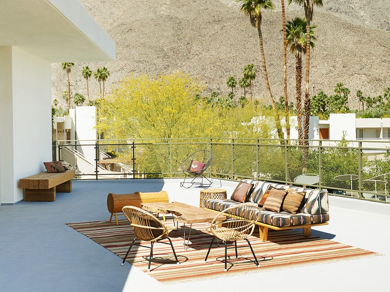 Outdoor space at Ace Hotel Palm Springs