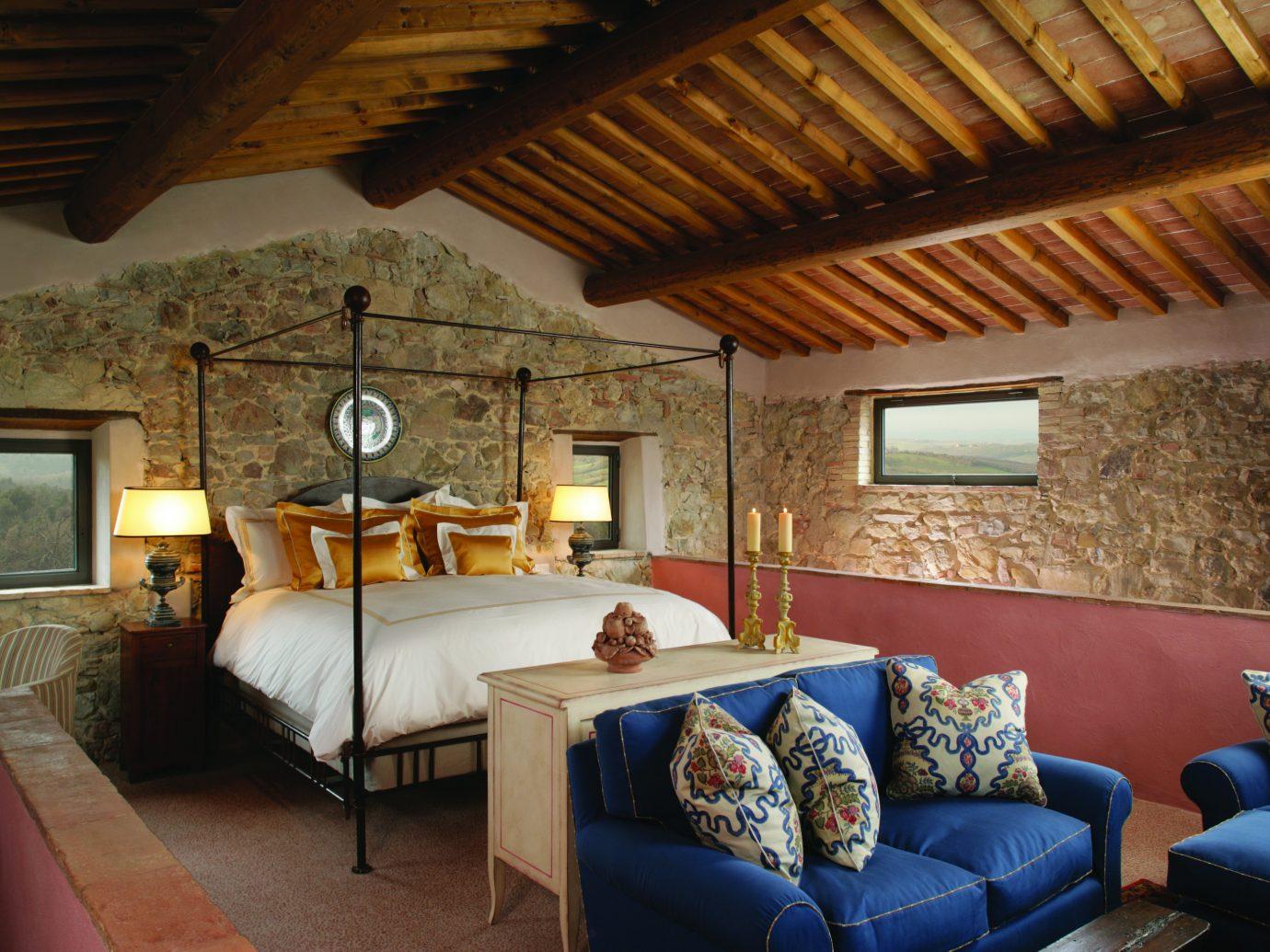 Bedroom at Castello di Casole
