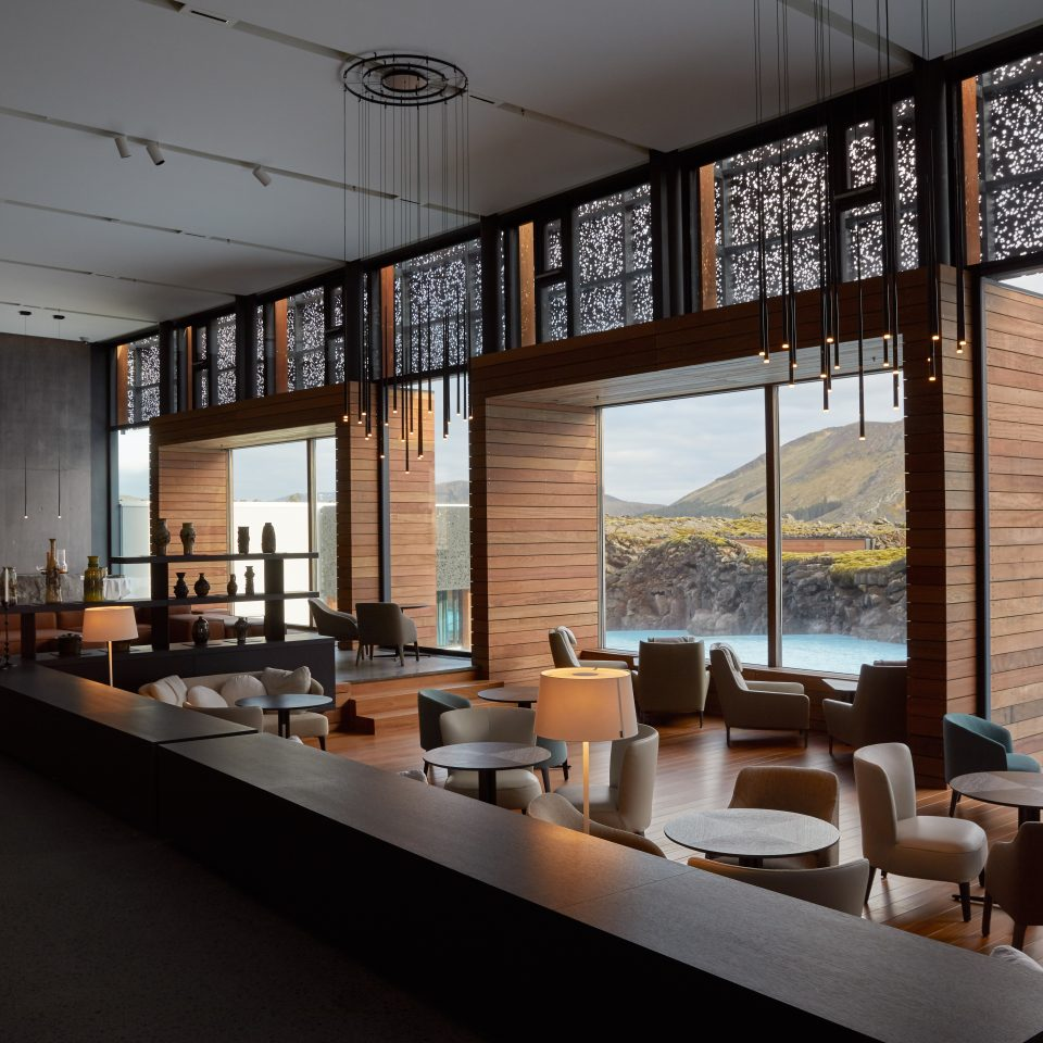 lobby at The Retreat at Blue Lagoon Iceland