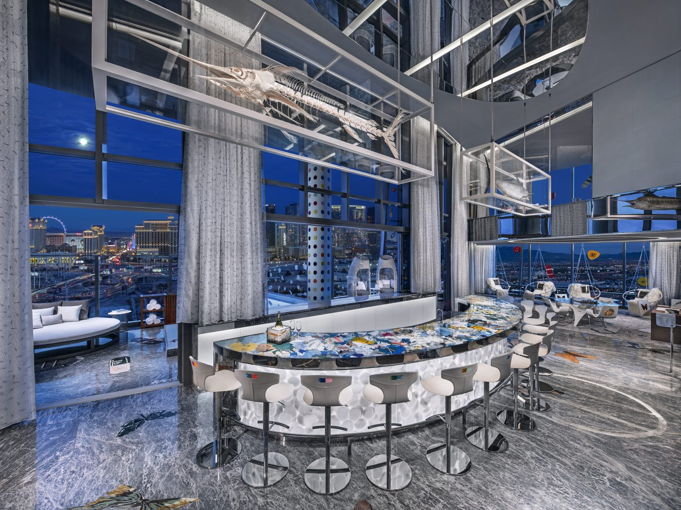 bar at the Damien Hirst designed Empathy Suite, Palms Casino Resort Las Vegas