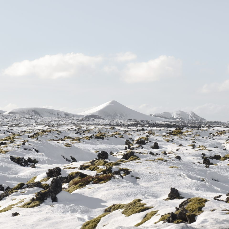 snowy scape in Iceland near The Retreat at Blue Lagoon Iceland