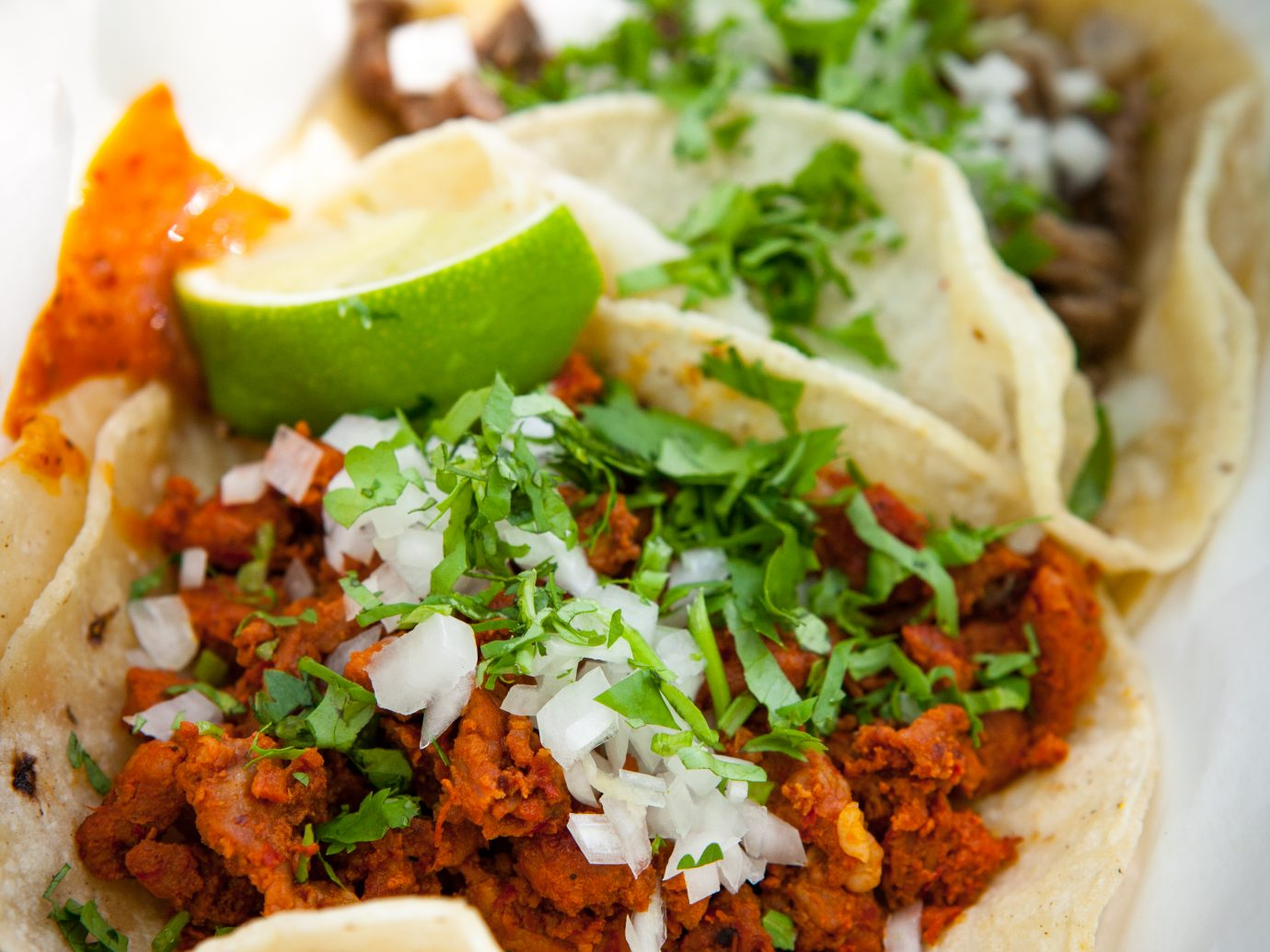 Beef and chorizo tacos