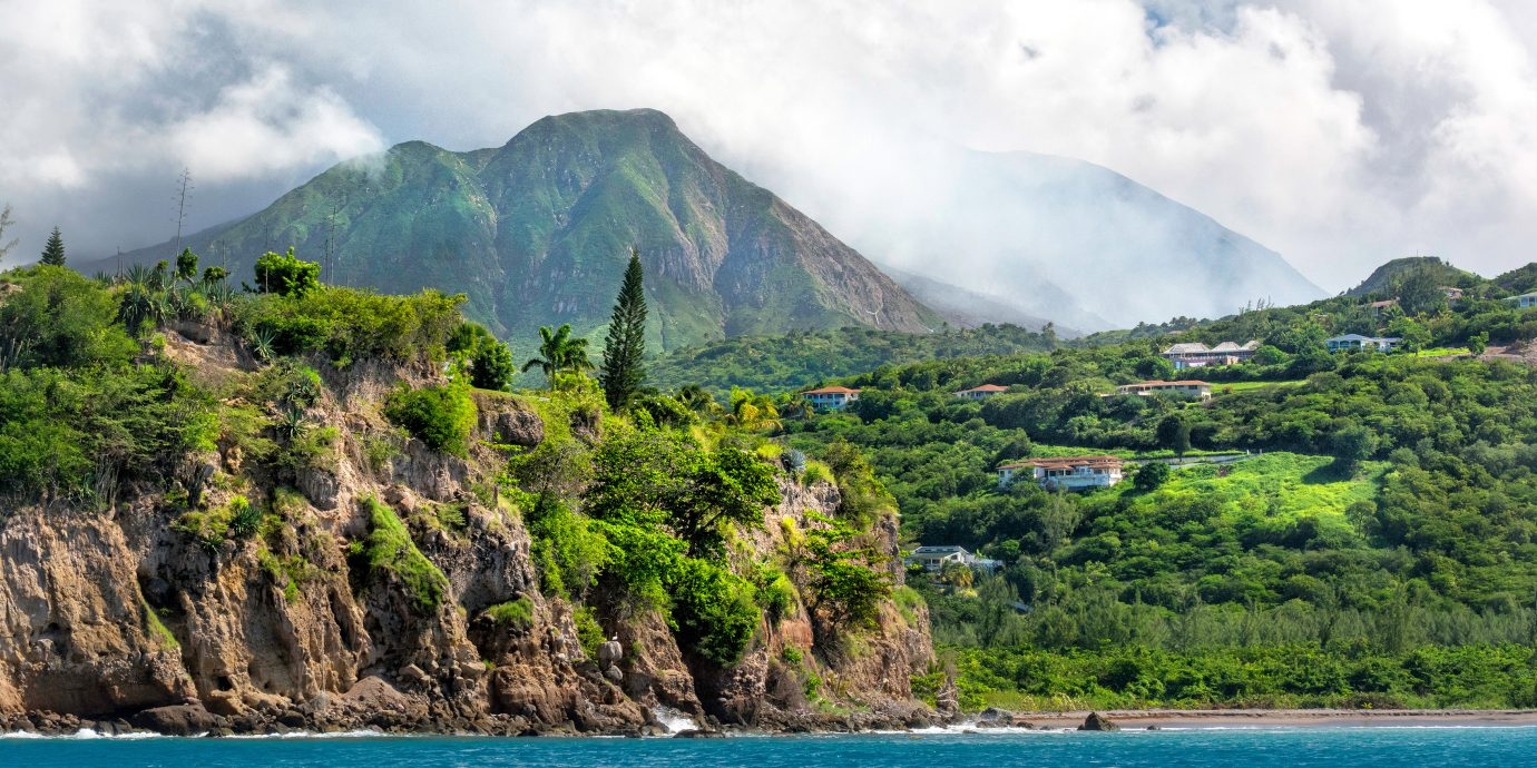 Montserrat - view at volcano