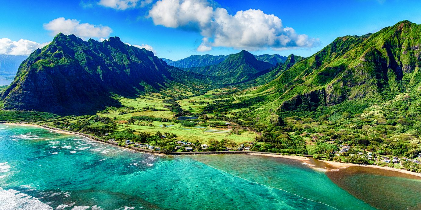 The beautiful and unique landscape of coastal Oahu, Hawaii