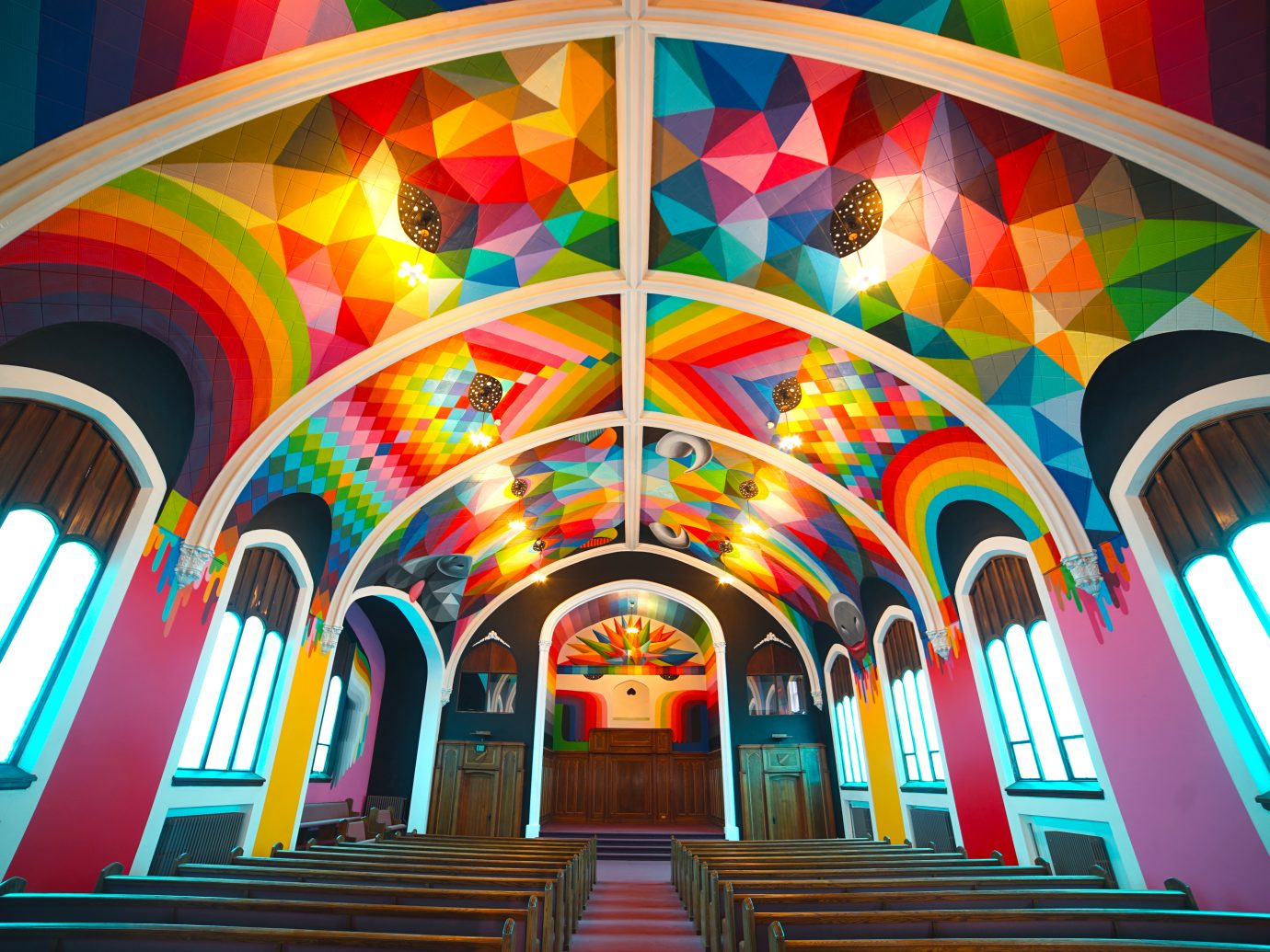 frontal view of International Church of Cannabis interior