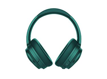 Green over-ear headphones