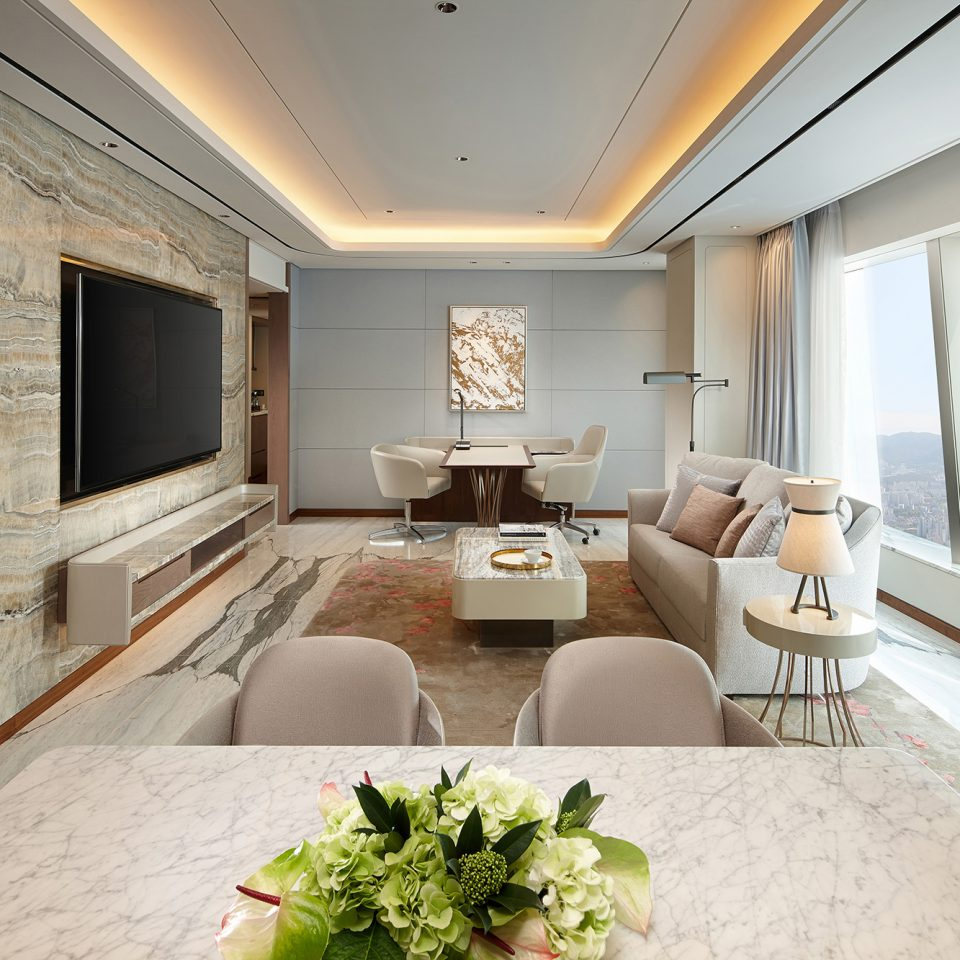 presidential suite with large tv