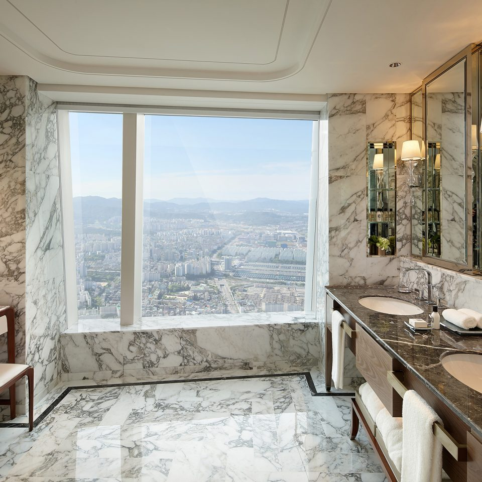 marble interior in presidential suite in day