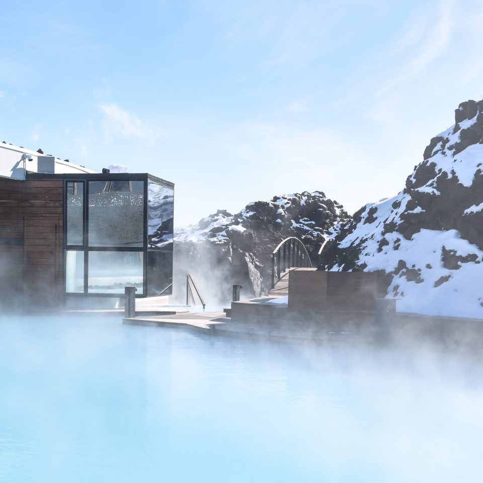 retreat lagoon with steaming hot water