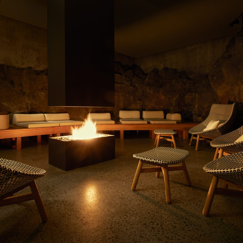 retreat spa fire room at The Retreat at Blue Lagoon Iceland