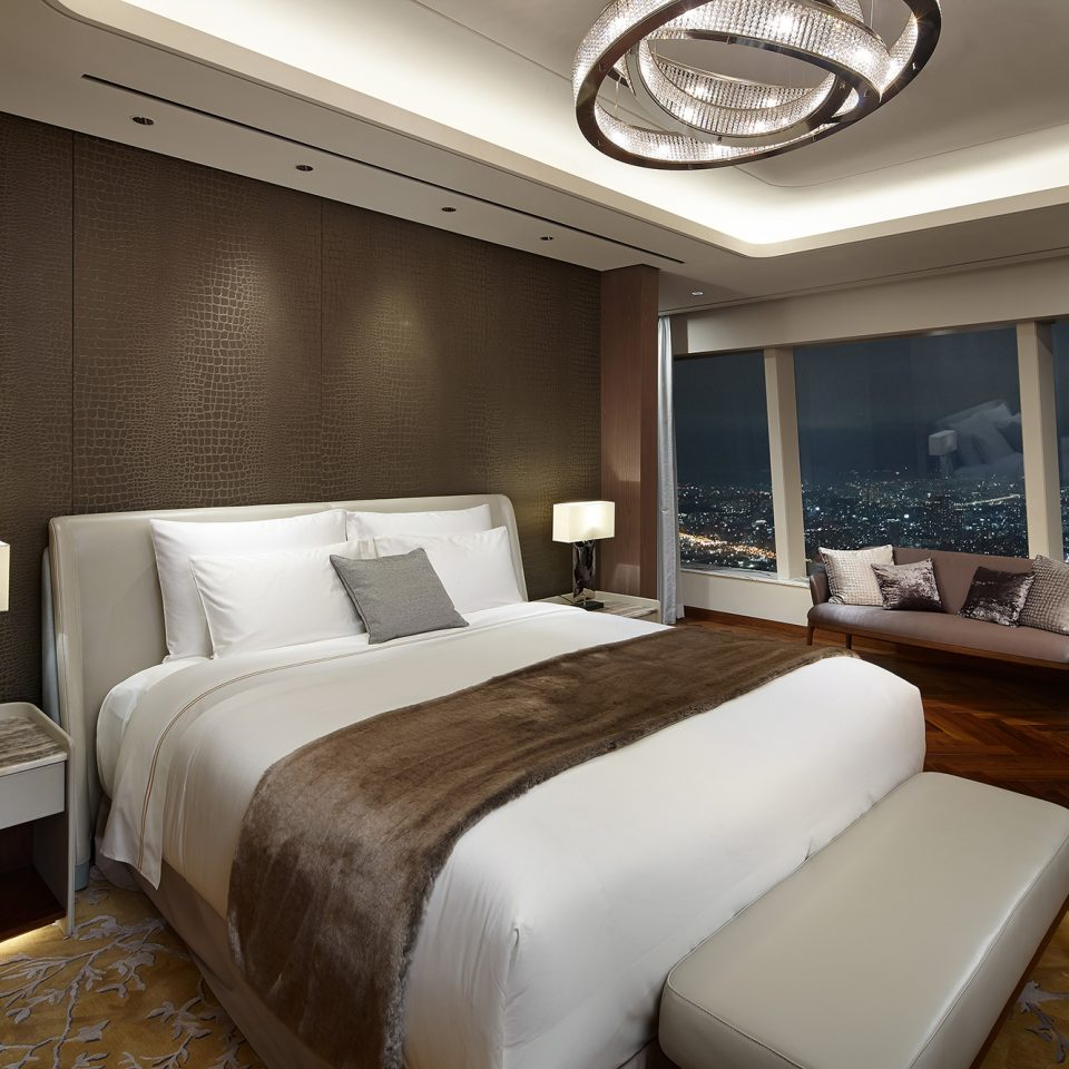 large bed in royal suite