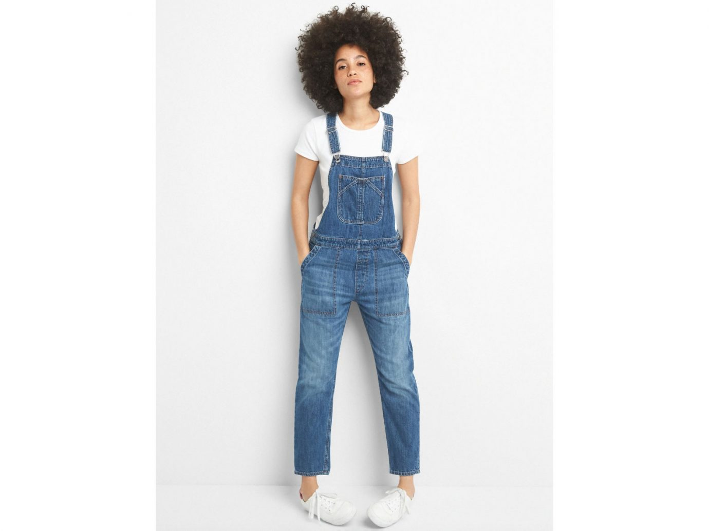 Gap Relaxed Denim Overalls
