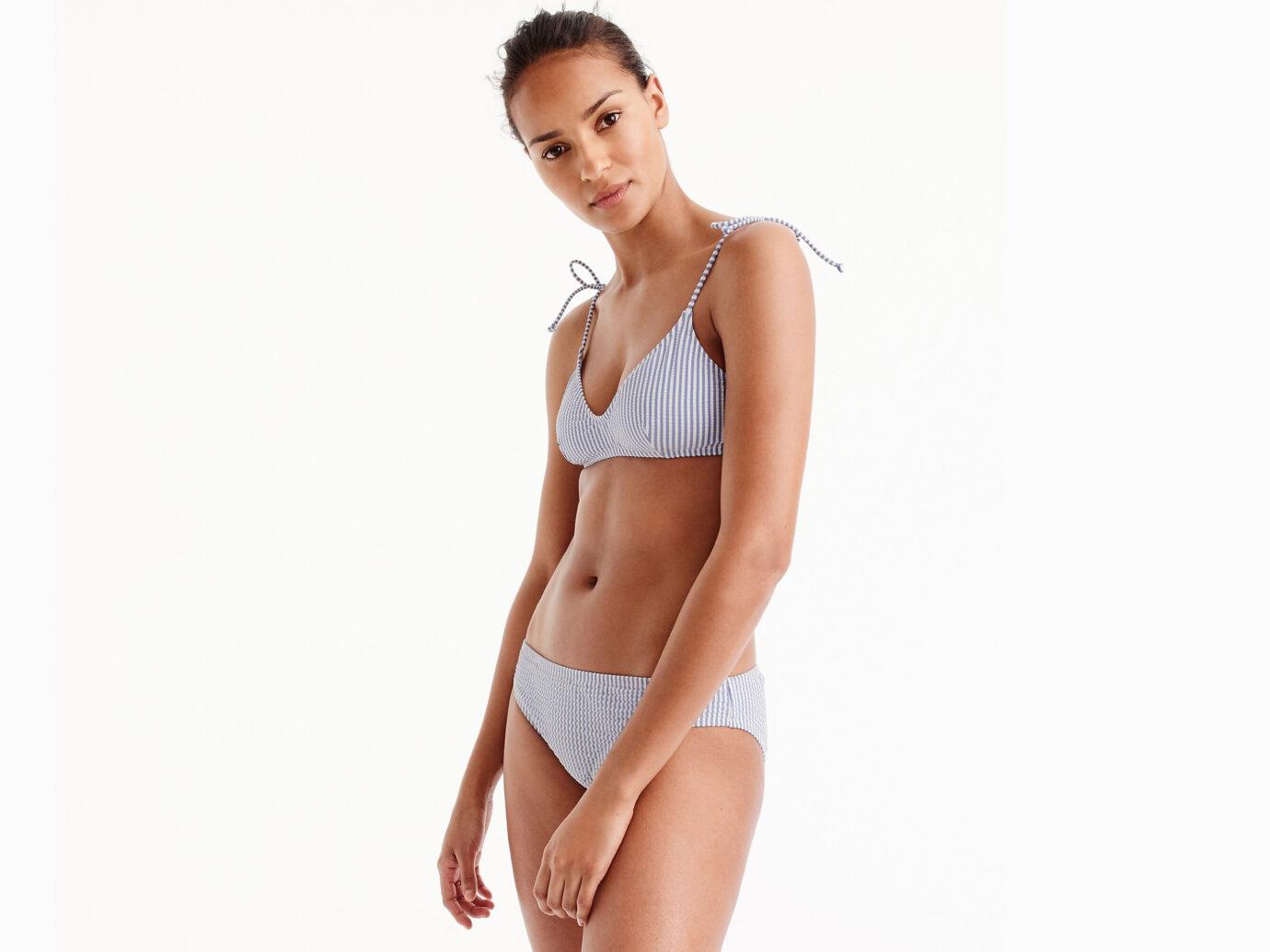 J.Crew Seersucker Bikini