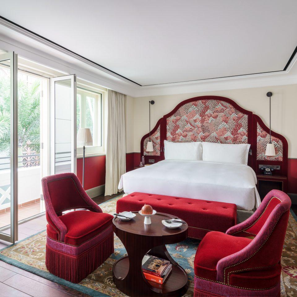 cozy royal red bedroom