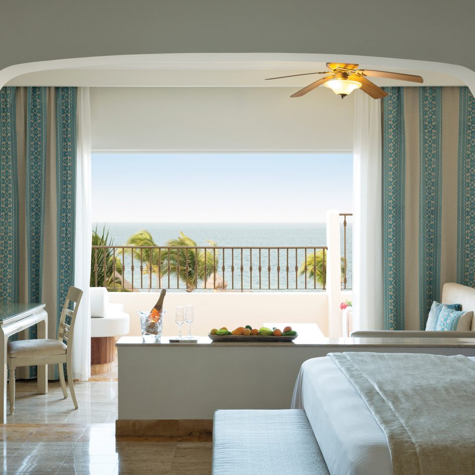 suite with open wall to balcony