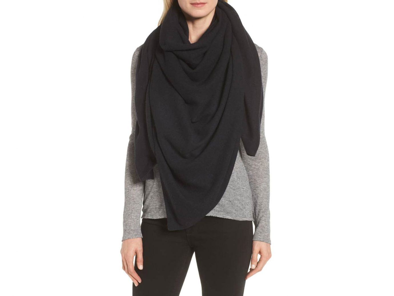 Halogen Lightweight Cashmere Travel Scarf