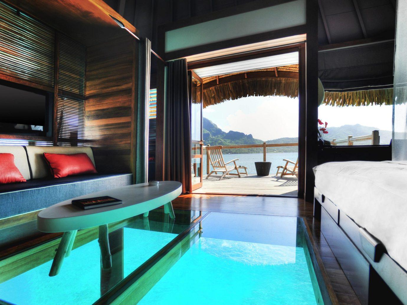 Villa bedroom at Le Meridien Bora Bora