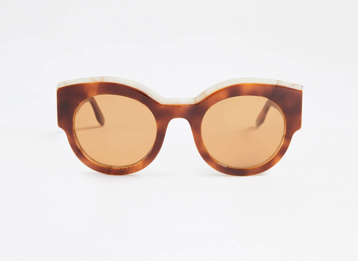 Ganni tortoise brown sunglasses