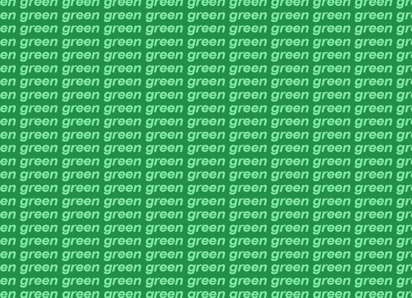 green header