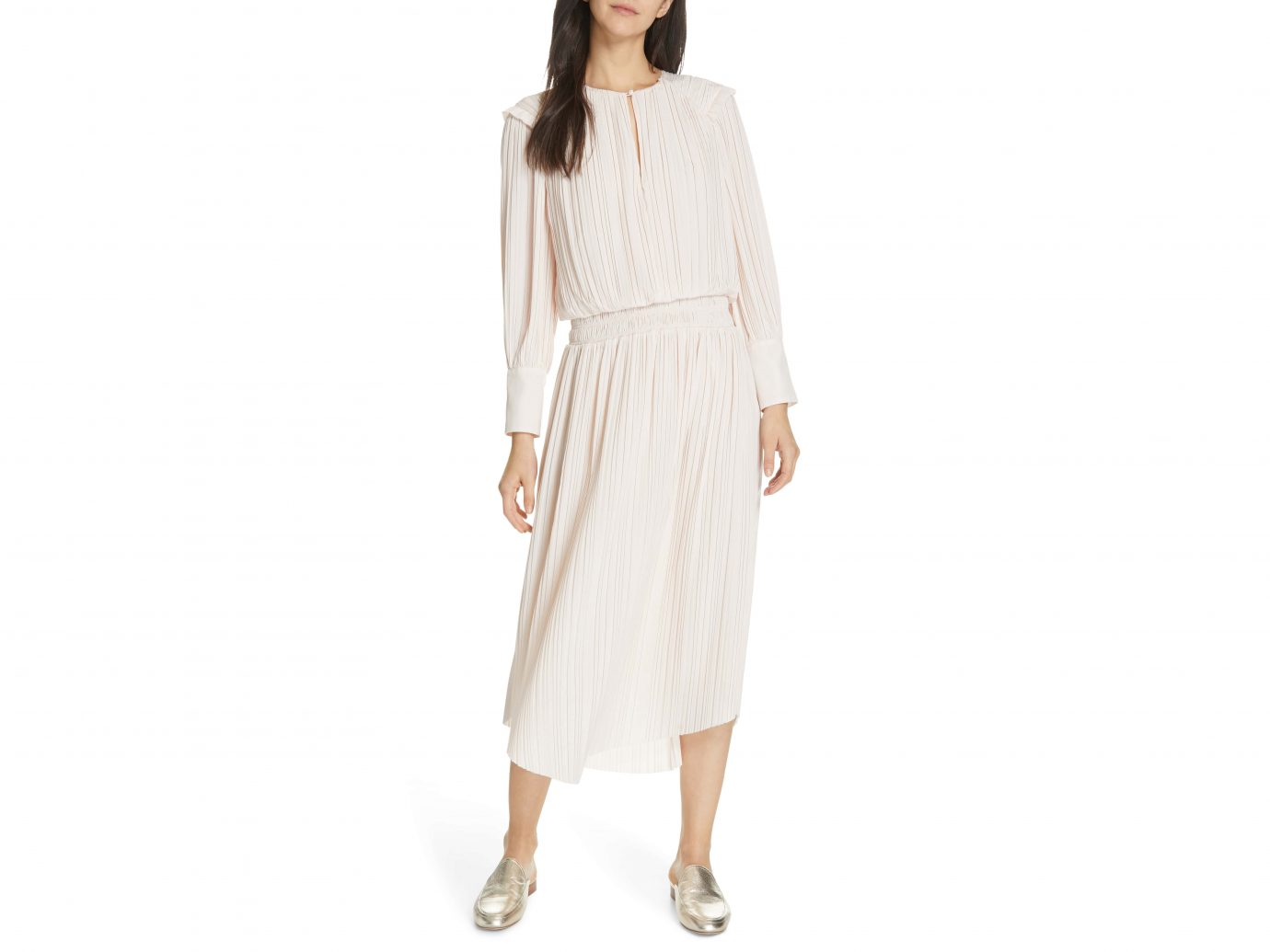 Joie Pleat Midi Dress