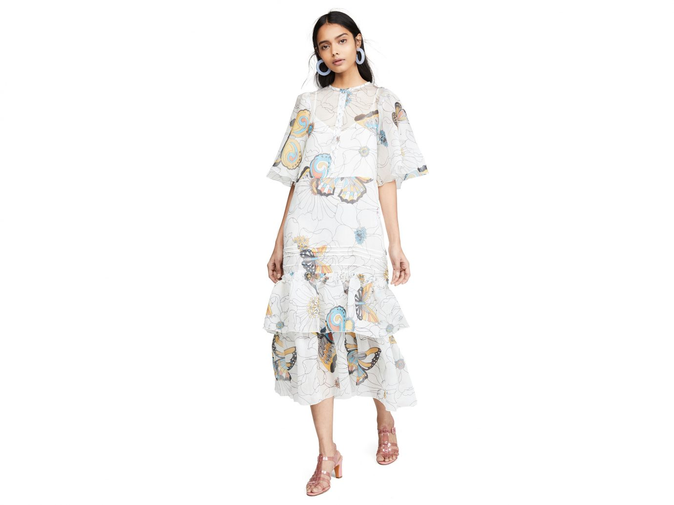 See by Chloe Printed Puff Sleeve Dress