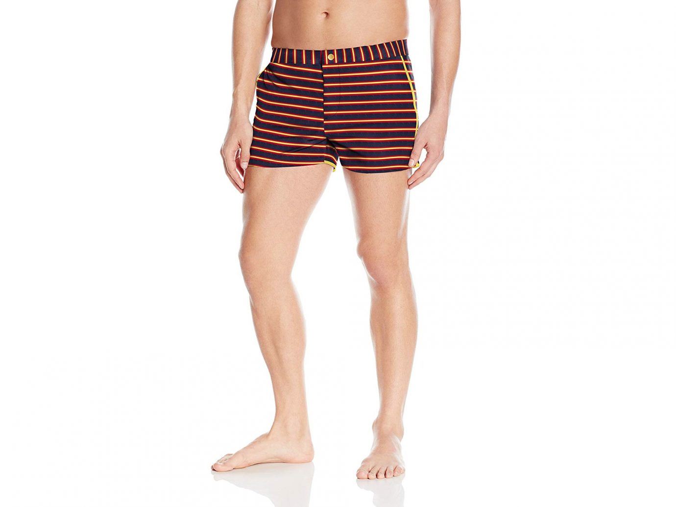 Parke and Ronen Striped Swim Shorts