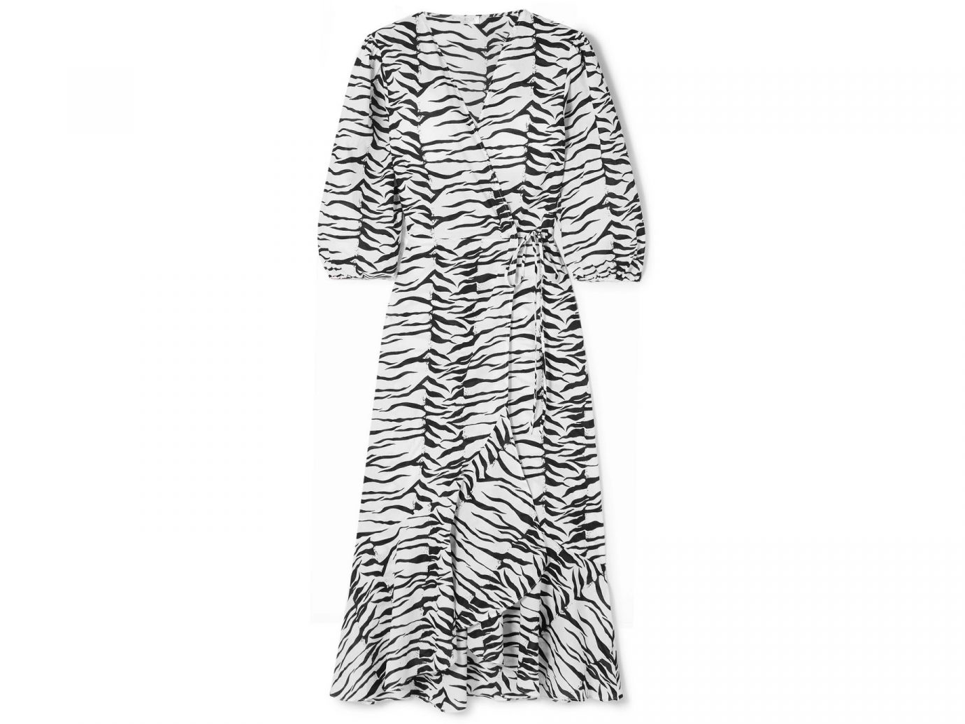 RIXO Noleen tiger-print cotton-voile wrap dress