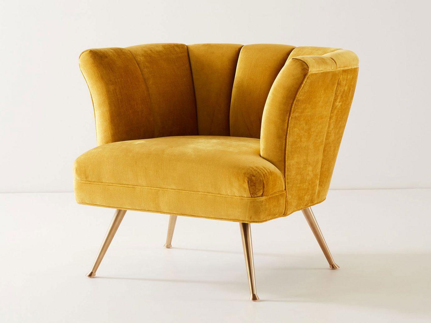 Anthropologie velvet Tulip Chair