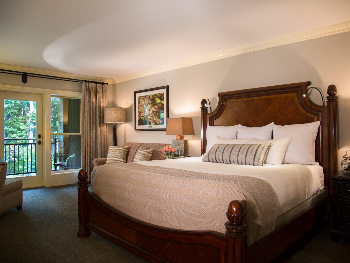 Bedroom at the Lodge at Woodloch